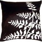 Pillow Decor - Black with White Bold Fern Throw Pillow  - SKU: KB1-0009-04-20