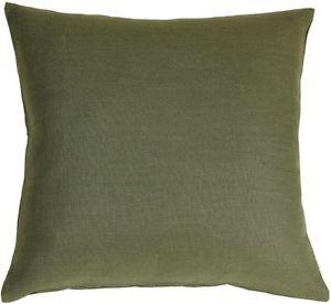 Pillow Decor - Tuscany Linen Fig Green 20x20 Throw Pillow  - SKU: NB1-0005-07-20