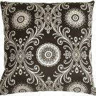 Pillow Decor - Filigree Black 17x17 Throw Pillow  - SKU: WB1-0009-04-17