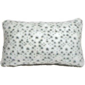 Pillow Decor - Snow Leopard Faux Fur 12x20 Throw Pillow  - SKU: YB1-0002-01-92