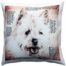 Pillow Decor - Cairn Male Dog Pillow 17x17  - SKU: LE1-0039-01-17