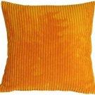 Pillow Decor - Wide Wale Corduroy Light Orange 22x22 Throw Pillow