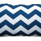 Pillow Decor - Chevron Bold Blue Throw Pillow 12X20  - SKU: PD2-0090-01-92