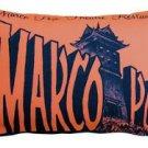 Pillow Decor - Marco Polo Theatre Restaurant 12x20 Sienna Throw Pillow