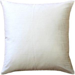 Pillow Decor - Sankara Ivory Silk Throw Pillow 16x16  - SKU: FB1-0001-02-16