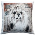 Pillow Decor - Shih Tzu Top Knot Dog Pillow 17x17  - SKU: LE1-0036-01-17
