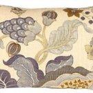 Pillow Decor - Harvest Floral Blue 12x20 Throw Pillow  - SKU: VB1-0022-01-92