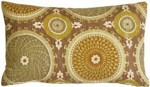 Pillow Decor - Bohemian Medallion Mulberry 12x20 Throw Pillow