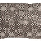 Pillow Decor - Houndstooth Spheres 12x20 Gray Throw Pillow