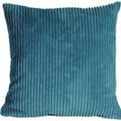 Pillow Decor - Wide Wale Corduroy Marine Blue 18x18 Throw Pillow