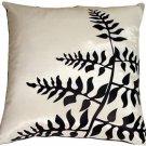 Pillow Decor - White with Black Bold Fern Throw Pillow  - SKU: KB1-0009-05-20