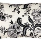 Pillow Decor - Tuscany Linen Floral Print 12x20 Throw Pillow