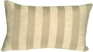 Pillow Decor - Classic Stripes in Two-Tone Taupe Rectangular Accent Pillow