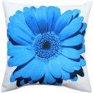 Pillow Decor - Bold Daisy Flower Blue Throw Pillow 20X20  - SKU: PD2-0064-04-20