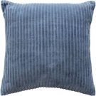 Pillow Decor - Cotton Corduroy Blue Throw Pillow 16x16  - SKU: FA1-0011-02-16
