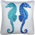 Pillow Decor - Capri Seahorse Reflect Throw Pillow 20x20  - SKU: TC1-3031-01-20