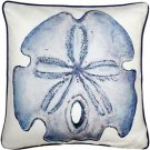 Pillow Decor - Big Island Sand Dollar Solitaire Throw Pillow 20x20