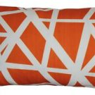 Pillow Decor - Bird's Nest Orange Throw Pillow 12X20  - SKU: PD2-0050-02-92
