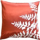 "Pillow Decor - Red with White Bold Fern 20"" Throw Pillow  - SKU: KB1-0009-09-20"