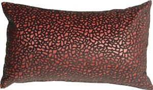 Pillow Decor - Pebbles in Red 12x20 Faux Fur Throw Pillow  - SKU: YA1-0004-01-92