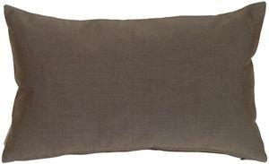 Pillow Decor - Sunbrella Coal Black 12x20 Outdoor Pillow  - SKU: PD1-0002-06-92