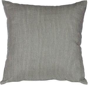 Pillow Decor - Ticking Stripe Wedgewood Blue 15x15 Throw Pillow