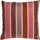 Pillow Decor - Savannah Stripes 20x20 Pink Purple Chenille Throw Pillow