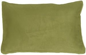 Pillow Decor - 14x22 Box Edge Royal Suede Sage Green Throw Pillow