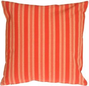 Pillow Decor - Tuscan Stripes in Red Throw Pillow  - SKU: MD1-0054-01-20