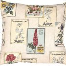 Pillow Decor - Vintage Seed Packet 20x20 Throw Pillow  - SKU: VB1-0021-01-20