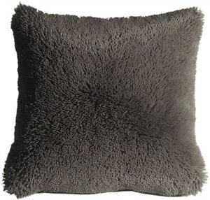 Pillow Decor - Soft Plush Gray 20x20 Throw Pillow  - SKU: MD1-0063-01-20