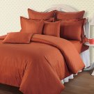 Brick Red Striped Queen Size Sheet Set 1000 Thread Count Egyptian Cotton