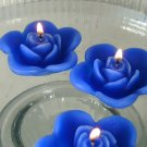 12 Blue Floating Rose Wedding Party Candles candle