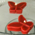8 Red Floating Butterfly Wedding Party Candles candle