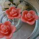 12 Coral Reef Floating Rose Wedding Party Candles candle