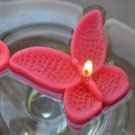 8 Hot Pink Floating Butterfly Wedding Party Candles candle