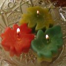 12 Floating fall leaf candles Maple Oak leaves Wedding favors centerpiece