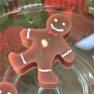 Set of 4 Gingerbread Man Floating Candles
