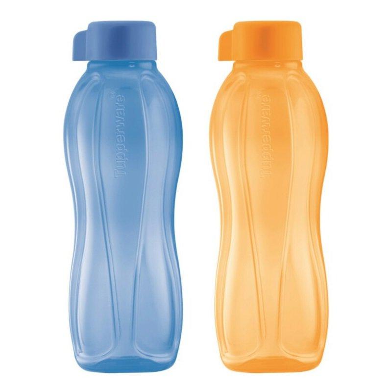 Tupperware Eco Bottle Drinking Bottle 750ML (Hyacinth Blue & Papaya)