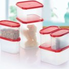 Tupperware Kitchen Storage Modular Mates Essential Set (Set of 7 - Red Lids)