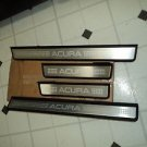 04 ACURA TL DRIVER LF,LR AND PASSAGER RF,RR SCUFF PLATE DOOR SILL MOULDING TRIM