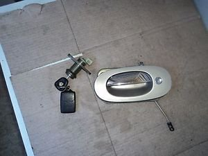 99 JAGUAR XJ   XJ8 driver outside door handle and trunk lock cylinder with key