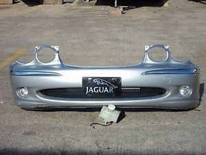 04 JAGUAR X-TYPE FRONT BUMPER COVER SIDE MAKER W/ L&R FOG LIGHTS OEM SILVER