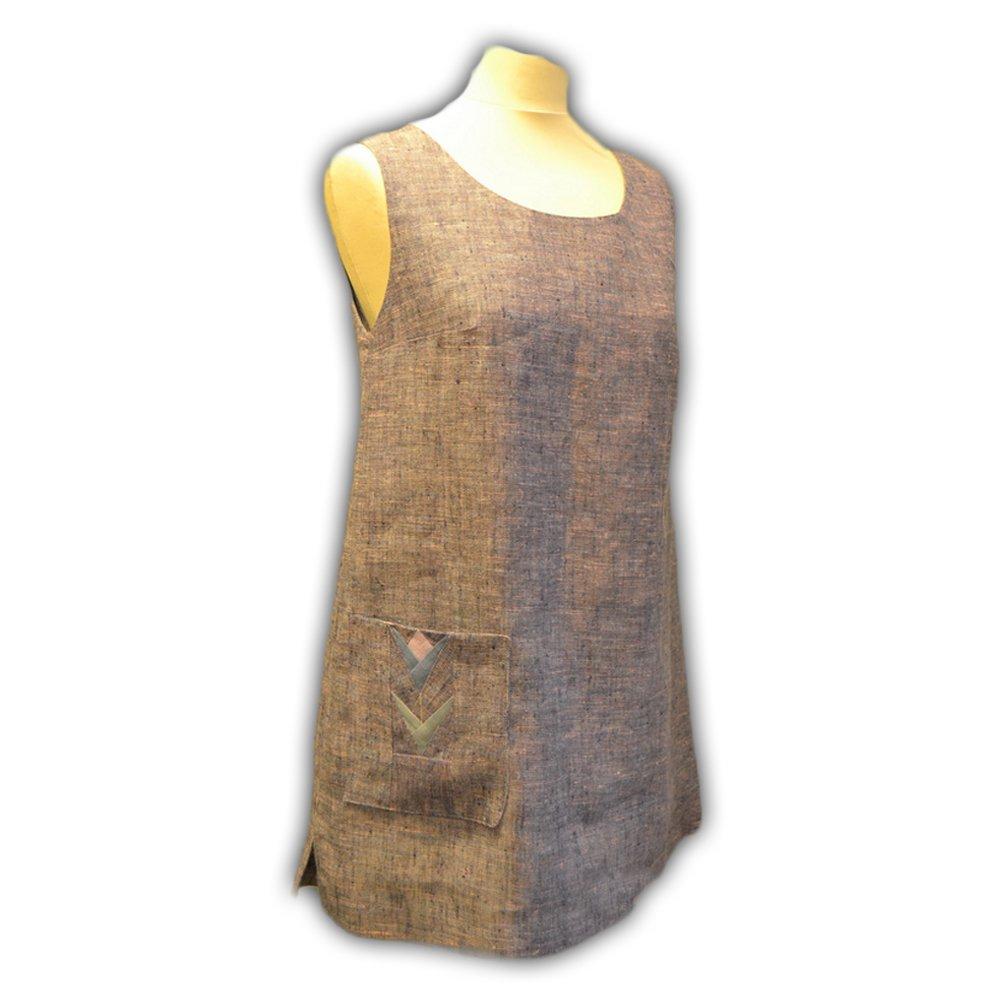 Sandy Linen Pinafore Dress