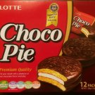 Lotte Choco Pie, 12 Individually Wrapped Chocolate Snack Pies 11.85 oz 1 Pack