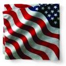 Bandanna, Cotton, Wavy American Flag