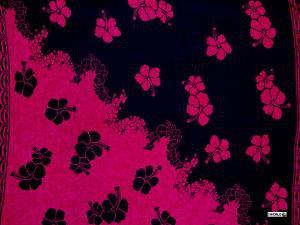 Hibiscus Sarong Mauve Fuchsia / Black - Hi-17