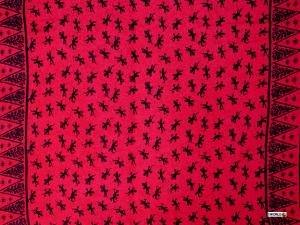 Gecko Sarong Red / Black