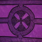 Celtic Sarong, Celtic Cross And Circle Purple