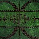 Tattoo Sarong Emerald Green